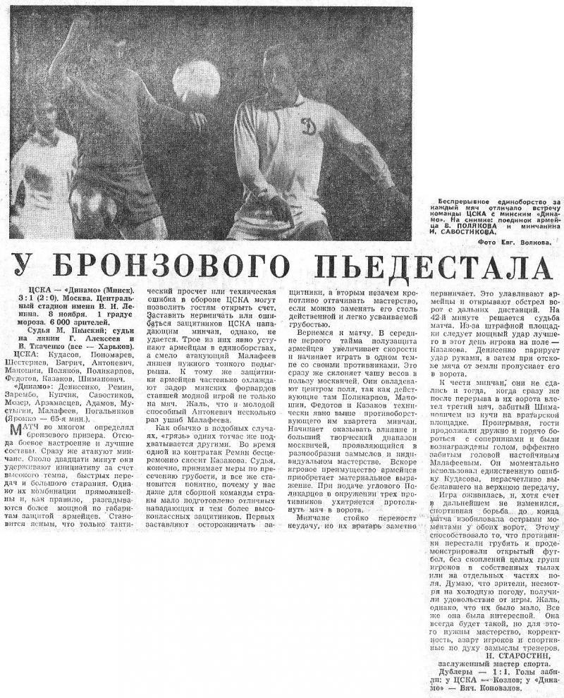 ЦСКА (Москва) - Динамо (Минск) 3:1. Нажмите, чтобы посмотреть истинный размер рисунка