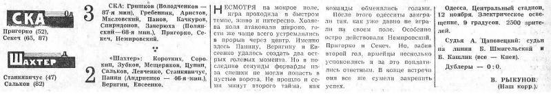 СКА (Одесса) - Шахтер (Донецк) 3:2. Нажмите, чтобы посмотреть истинный размер рисунка