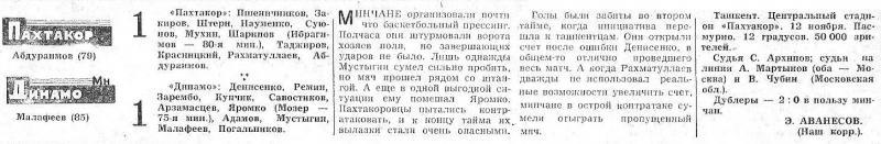 Пахтакор (Ташкент) - Динамо (Минск) 1:1. Нажмите, чтобы посмотреть истинный размер рисунка