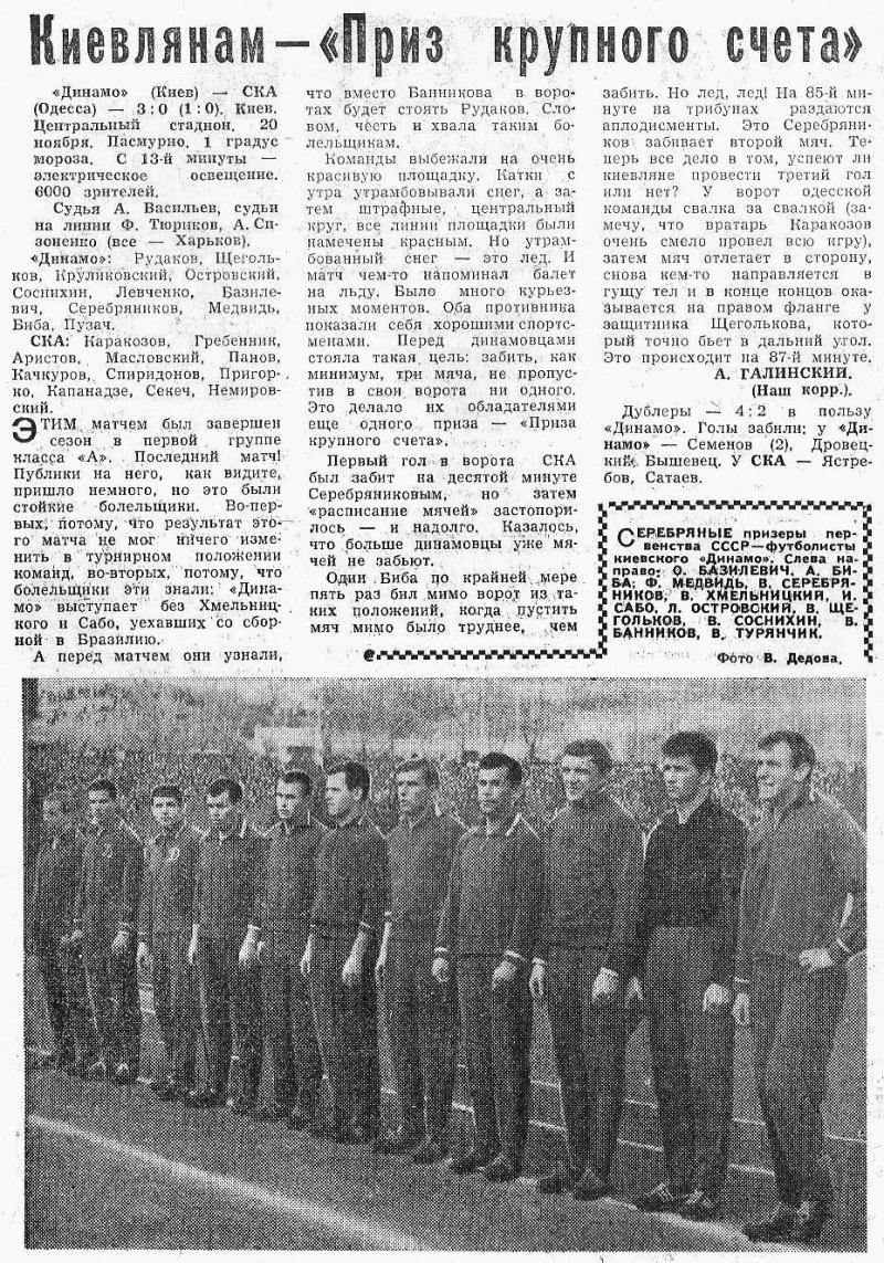 Динамо (Киев) - СКА (Одесса) 3:0. Нажмите, чтобы посмотреть истинный размер рисунка