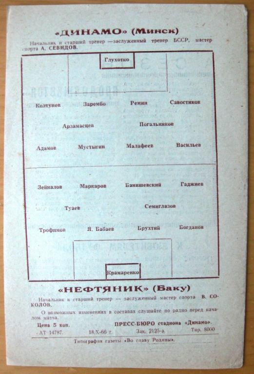 Динамо (Минск) - Нефтяник (Баку) 0:0