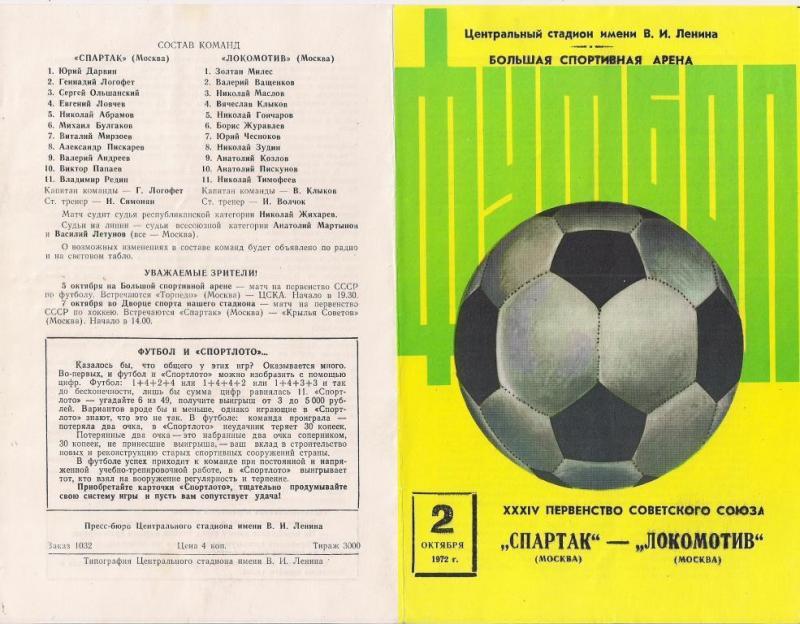 Спартак (Москва) - Локомотив (Москва) 2:0. Нажмите, чтобы посмотреть истинный размер рисунка