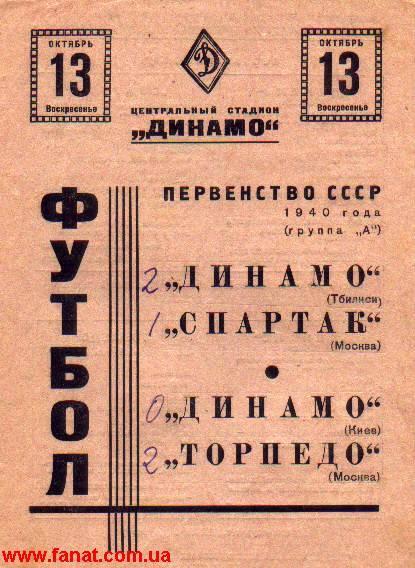 Спартак (Москва) - Динамо (Тбилиси) 1:2