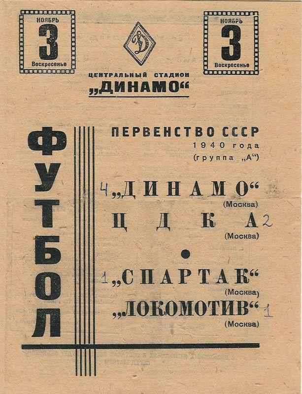 ЦДКА (Москва) - Динамо (Москва) 2:4