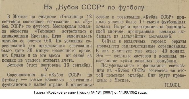 Торпедо (Москва) - Динамо (Ереван) 0:0 д.в.