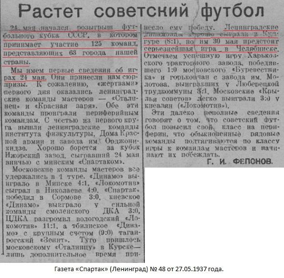 Динамо (Кунгур) - Динамо (Ленинград) 1:8