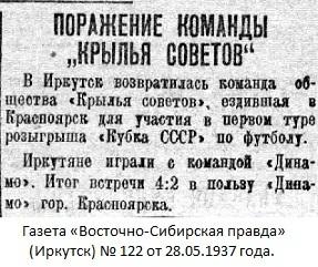 Динамо (Красноярск) - Крылья Советов (Иркутск) 4:2