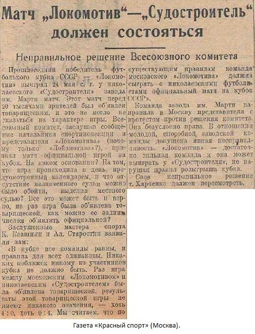 Судостроитель (Николаев) - Локомотив (Москва) 0:4
