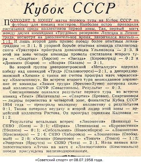 Трудовые резервы (Ленинград) - Трудовые резервы (Липецк) 1:1 д.в.