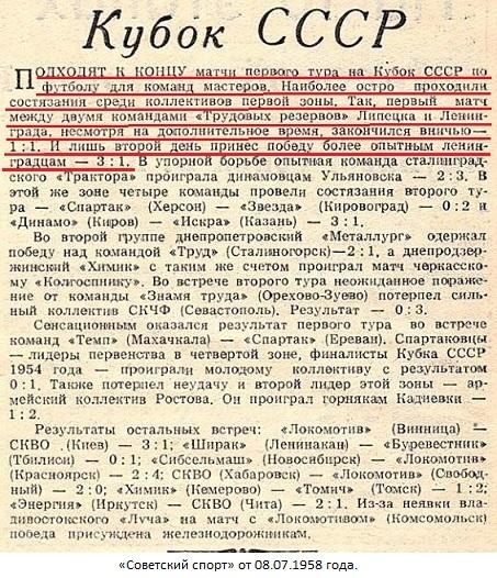 Трудовые резервы (Ленинград) - Трудовые резервы (Липецк) 3:1 д.в.