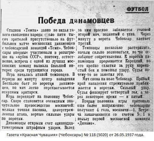 Темп (Чебоксары) - Динамо-2 (Москва) 1:9
