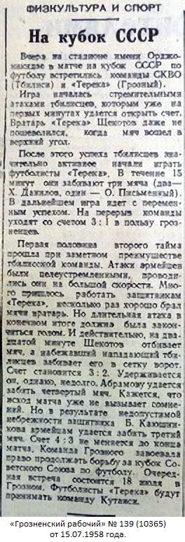 Терек (Грозный) - СКВО (Тбилиси) 4:3