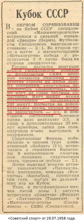 Локомотив (Челябинск) - СКВО (Свердловск) 2:2 д.в.