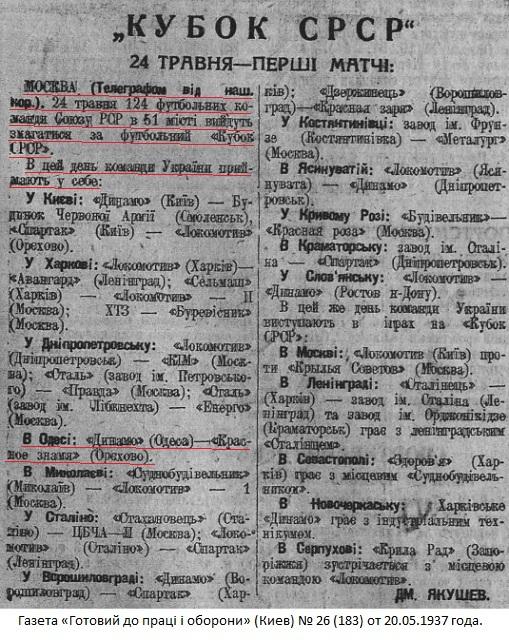 Динамо (Одесса) - Красное Знамя (Орехово-Зуево) 7:0