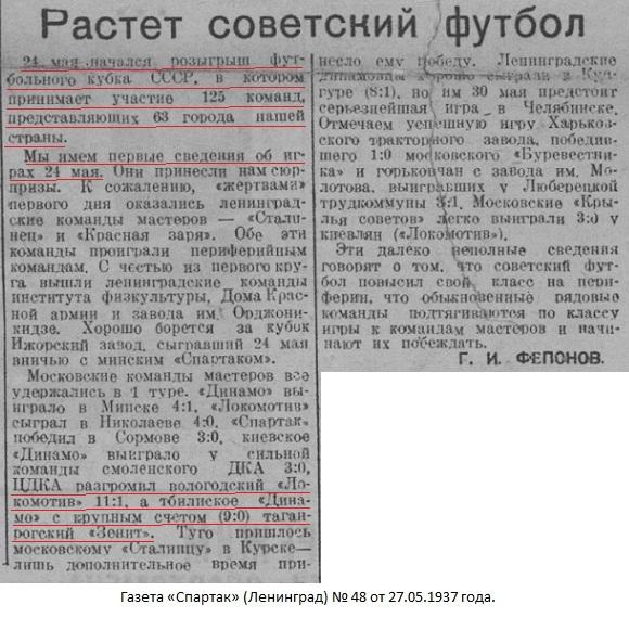 Зенит (Таганрог) - Динамо (Тбилиси) 1:9