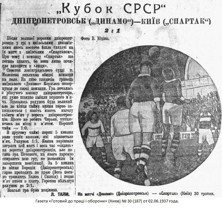 Спартак (Киев) - Динамо (Днепропетровск) +:- 1:2 тех.