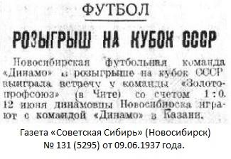 Золото и Платина - Золотопрофсоюз (Чита) - Динамо (Новосибирск) 0:1