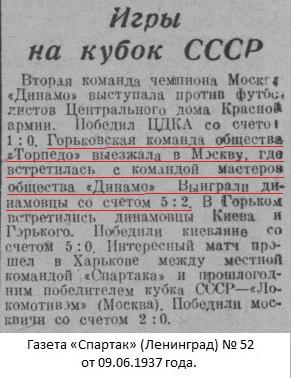 Динамо (Москва) - Торпедо (Горький) 5:2
