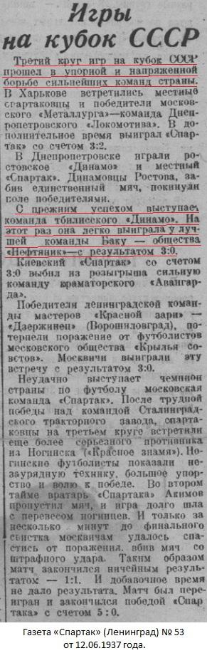 Динамо (Тбилиси) - Нефтяник (Баку) 3:0