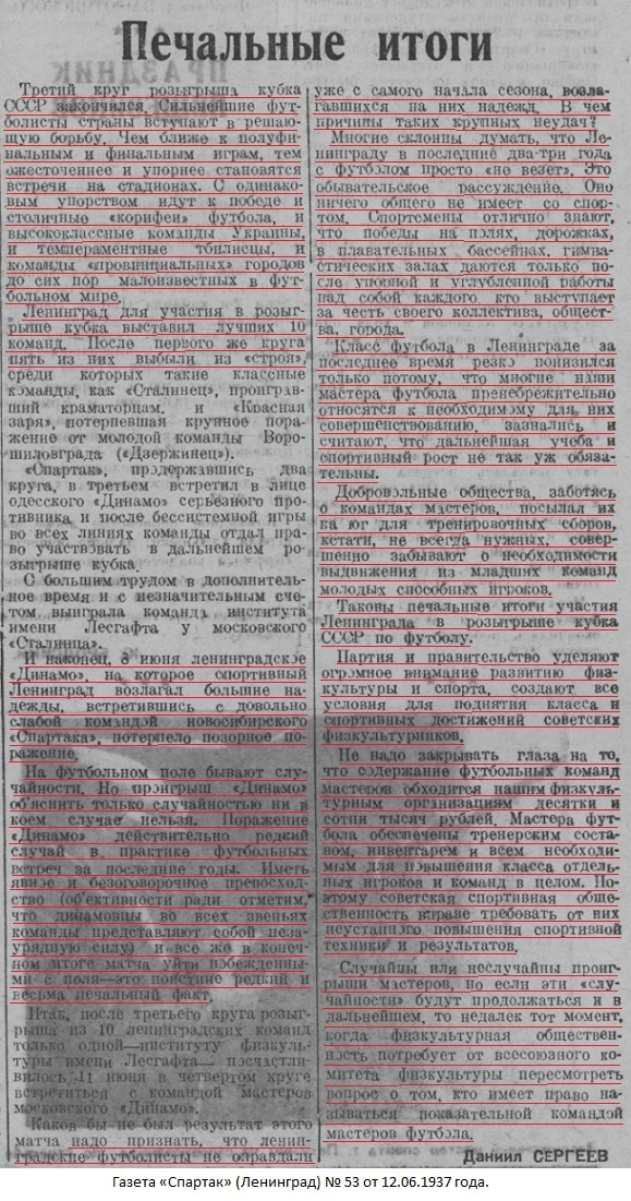 Динамо (Ленинград) - Спартак (Новосибирск) 0:1