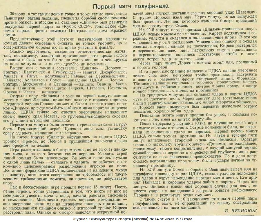 ЦДКА (Москва) - Динамо (Тбилиси) 0:1. Нажмите, чтобы посмотреть истинный размер рисунка