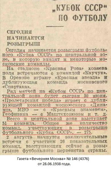 Снайпер - завод № 217 Наркомоборонпрома (Москва) - Маштехсоюз (Москва) 9:0