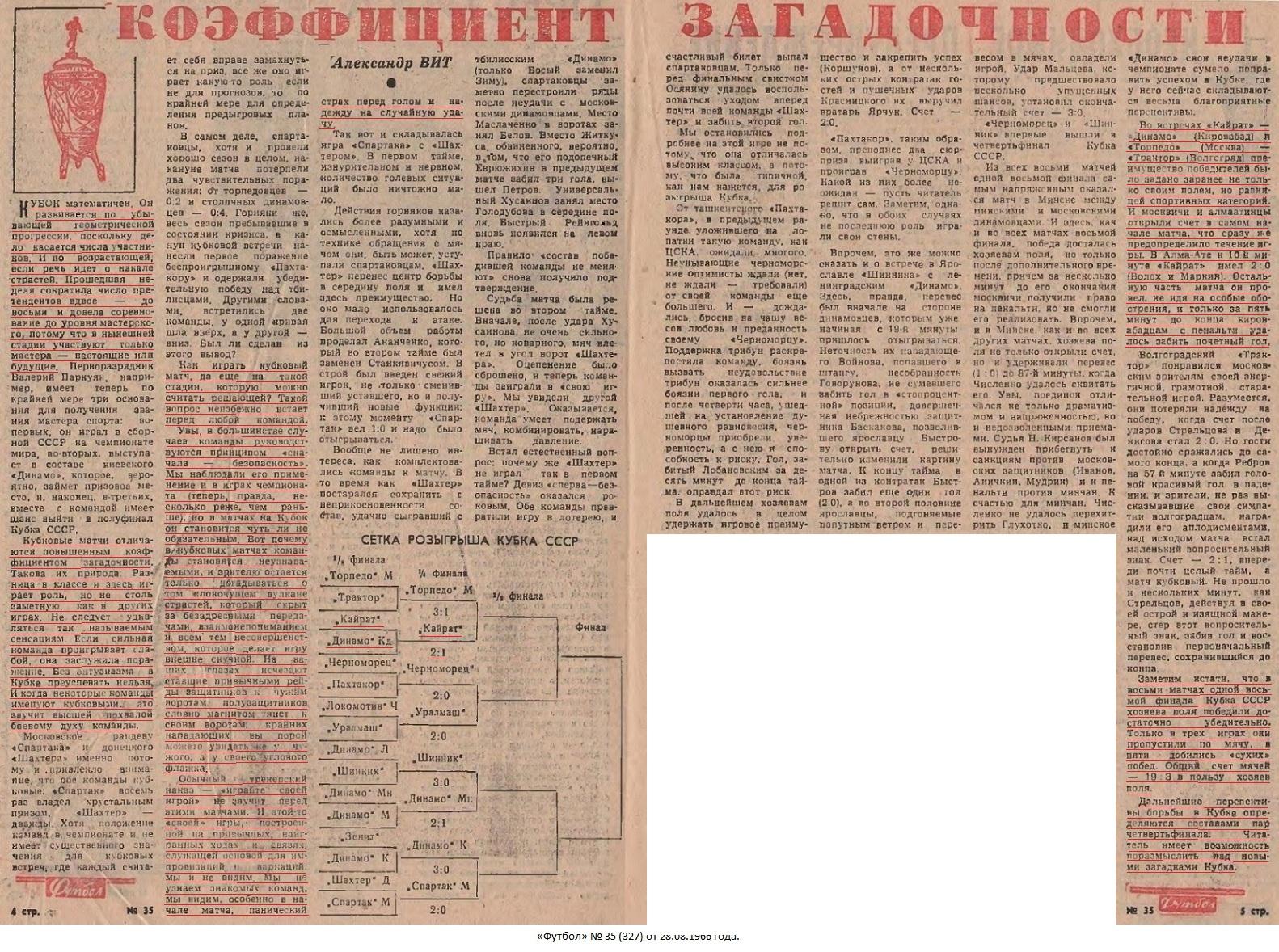 Кайрат (Алма-Ата) - Динамо (Кировабад) 2:1. Нажмите, чтобы посмотреть истинный размер рисунка