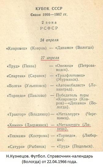 Химик (Дзержинск) - Металлург (Липецк) 1:2
