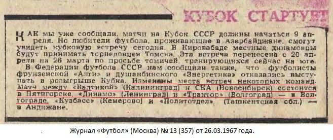 Динамо (Ленинград) - Трактор (Волгоград) 2:3
