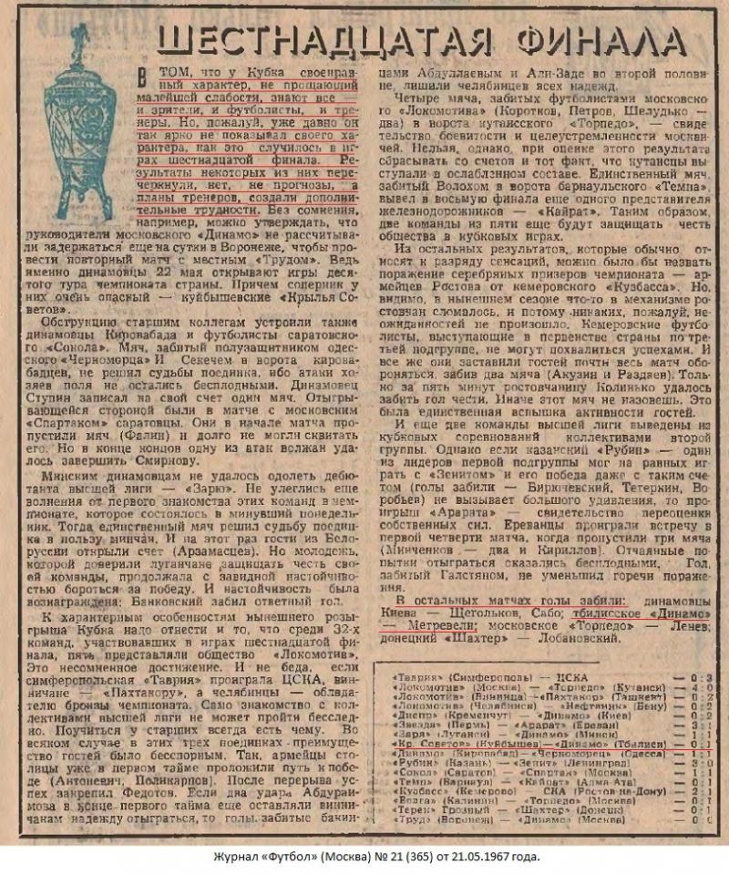 Крылья Советов (Куйбышев) - Динамо (Тбилиси) 0:1 д.в.. Нажмите, чтобы посмотреть истинный размер рисунка