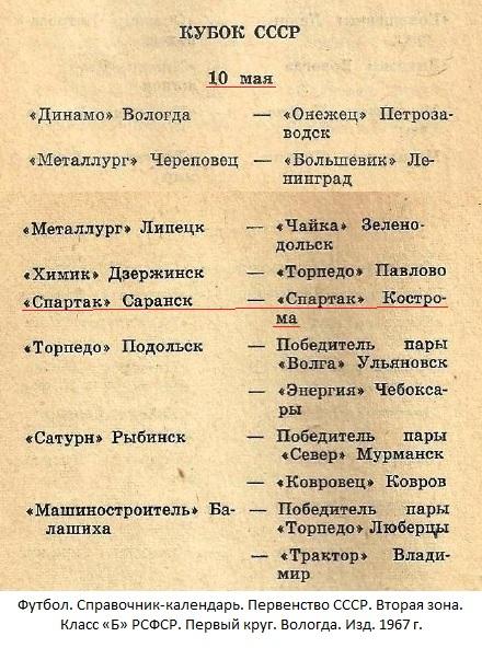 Спартак (Саранск) - Спартак (Кострома) 3:1