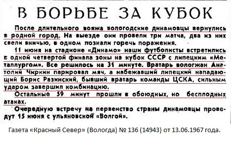 Динамо (Вологда) - Металлург (Липецк) 0:1