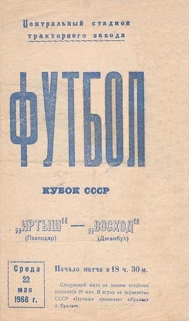 Иртыш (Павлодар) - Восход (Джамбул) 2:0