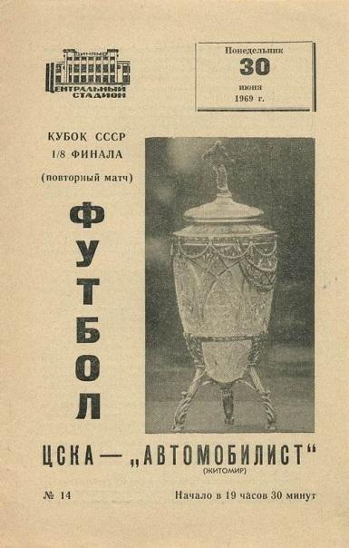 ЦСКА (Москва) - Автомобилист (Житомир) 1:0