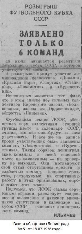 Дзержинец - паровозостроительный завод (Коломна) - Спартак (Ленинград) 0:9