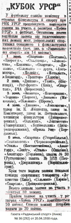 Авангард old (Сумы) - Молния (Харьков) 1:5