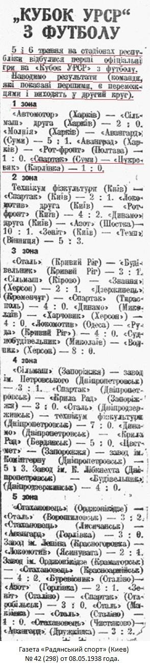 Спартак old (Сумы) - Сахарник (Карловка) 1:0