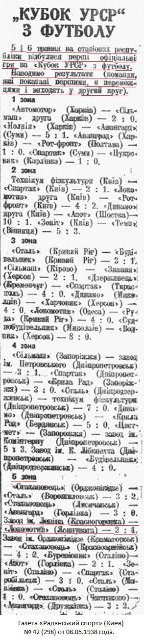 Локомотив (Ясиноватая) - Завод им. В.И. Ленина (Красногоровка) 1:2