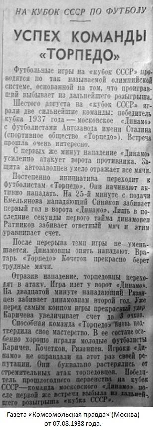 Торпедо (Москва) - Динамо (Москва) 3:1
