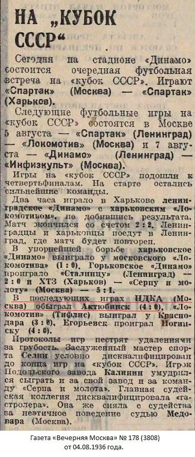Динамо (Актюбинск) - ЦДКА (Москва) 0:4