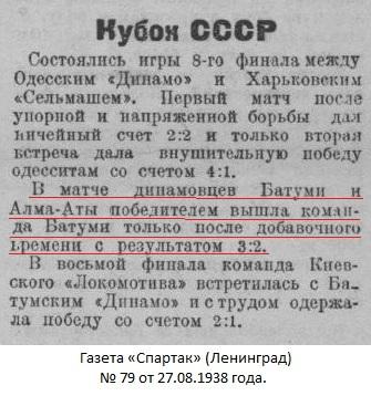 Динамо (Батуми) - Динамо (Алма-Ата) 3:2 д.в.
