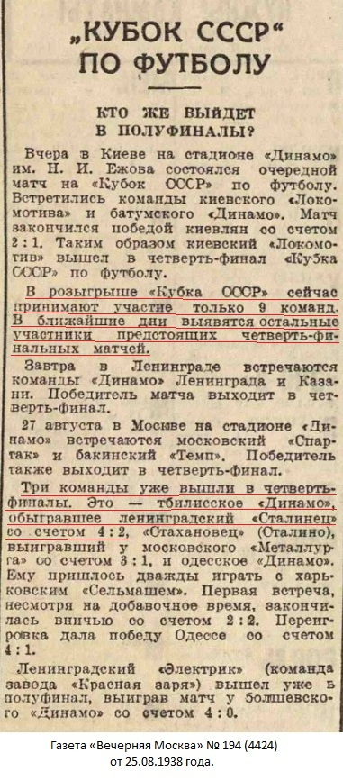 Динамо (Тбилиси) - Сталинец (Ленинград) 4:2