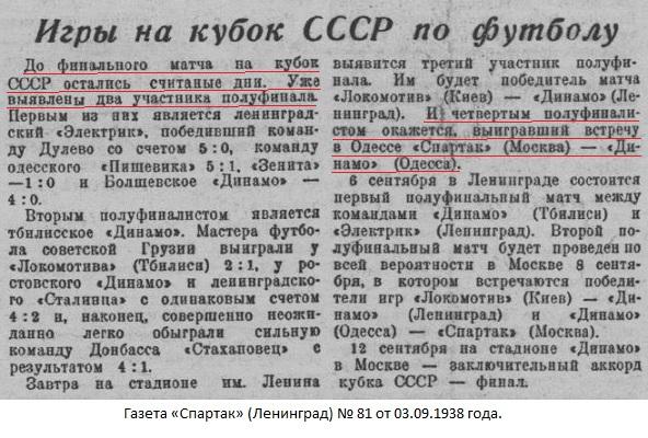 Динамо (Одесса) - Спартак (Москва) 0:3