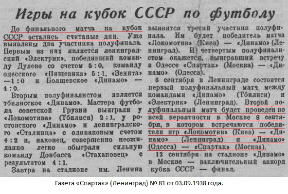 Динамо (Ленинград) - Спартак (Москва) 0:1