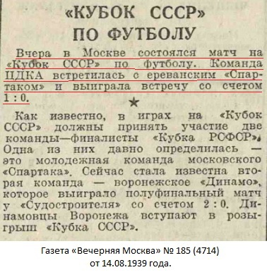 ЦДКА (Москва) - Спартак (Ереван) 1:0
