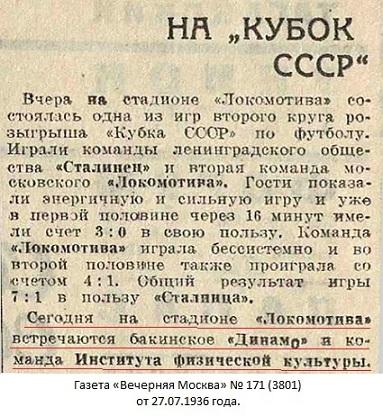 ГЦОЛИФК (Москва) - Динамо (Баку) +:- неявка