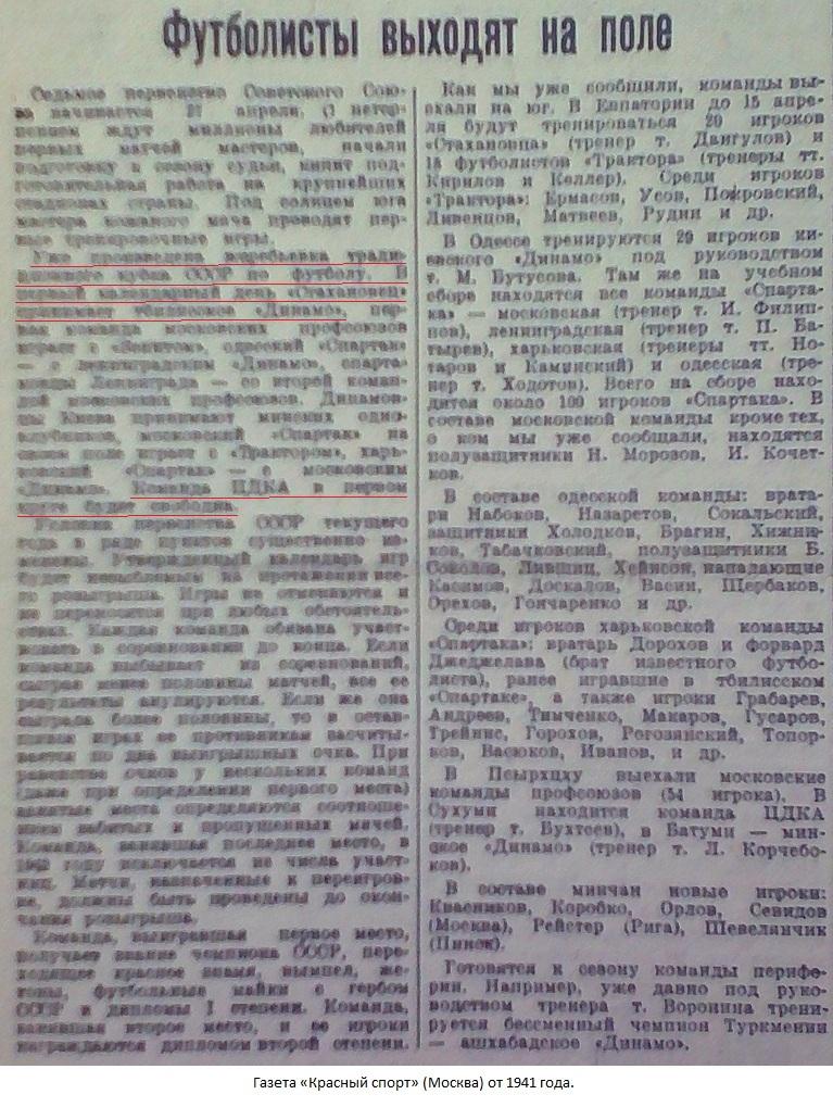 Стахановец (Сталино) - Динамо (Тбилиси) -:- не сост.