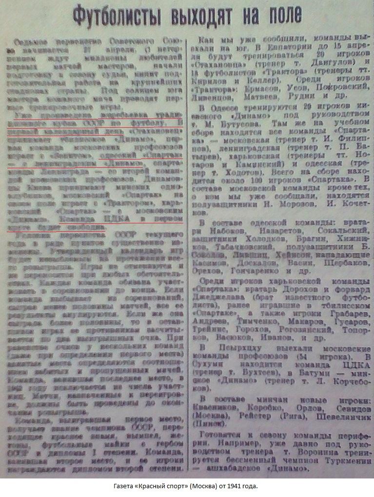Спартак (Одесса) - Динамо (Ленинград) -:- не сост.