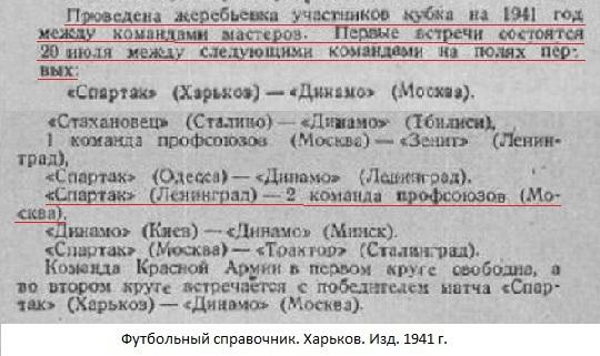 Спартак (Ленинград) - Профсоюзы-2 (Москва) -:- не сост.