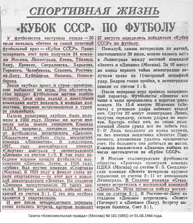 Стахановец (Сталино) - Динамо-2 (Москва-Минск) 1:5